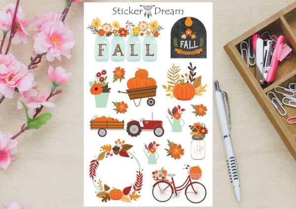 Sticker Dream - Cartela Fall
