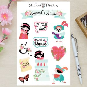 Sticker Dream - Cartela Romeu e Julieta