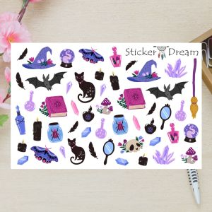 Sticker Dream - Cartela Super Wicca