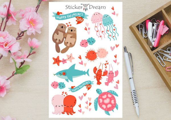 Sticker Dream - Cartela Oceano do Amor