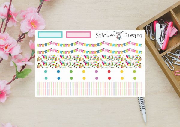 Sticker Dream - Washi Strip Bandeirinhas