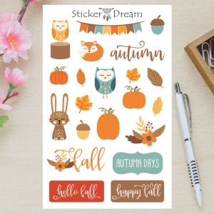 Sticker Dream - Cartela Autumn