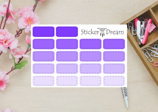 Sticker Dream - Half Box Roxo