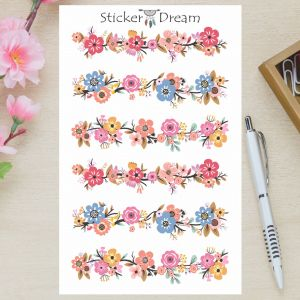 Sticker Dream - Cartela Washi de Flores