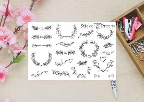 Sticker Dream - Cartela Super Ornamentos Floridos