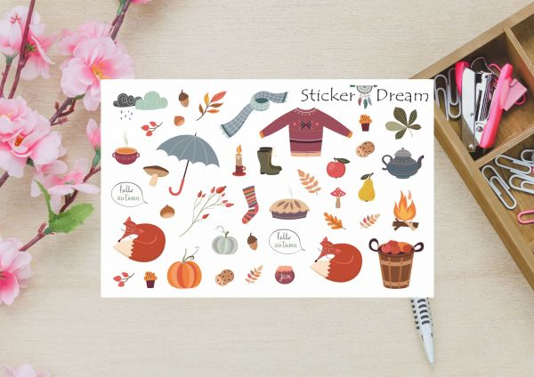 Sticker Dream - Super Chegou o Outono