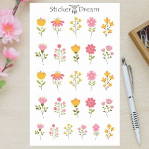 Sticker Dream - Cartela Flores de Verão