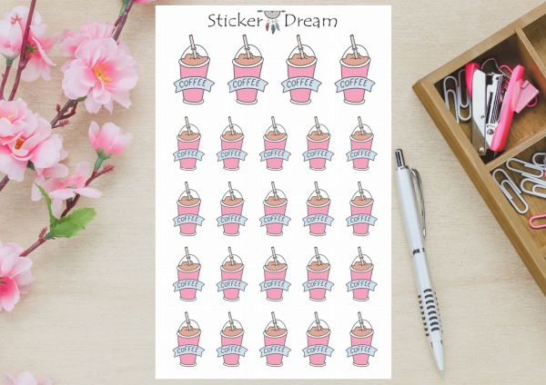 Sticker Dream - Cartela Coffee