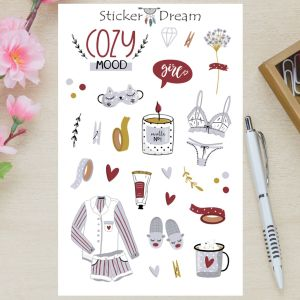 Sticker Dream - Cartela Cozy Mood
