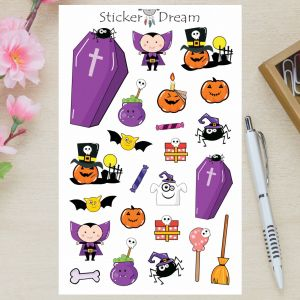 Sticker Dream - Cartela Ha Ha Halloween