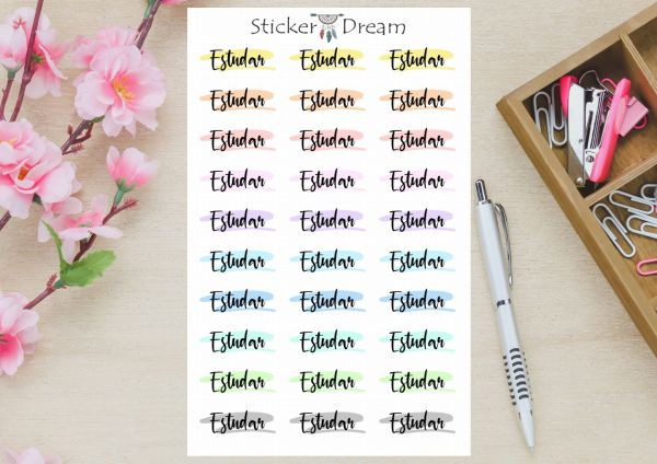 Sticker Dream - Cartela Funcional Estudar