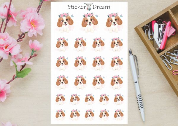 Sticker Dream - Cartela Cute Cavalier