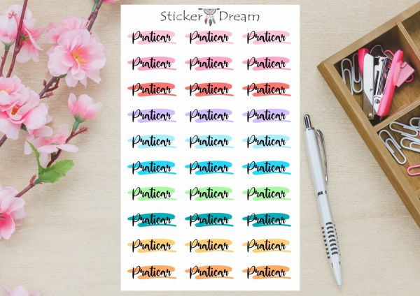 Sticker Dream - Cartela Funcional Praticar