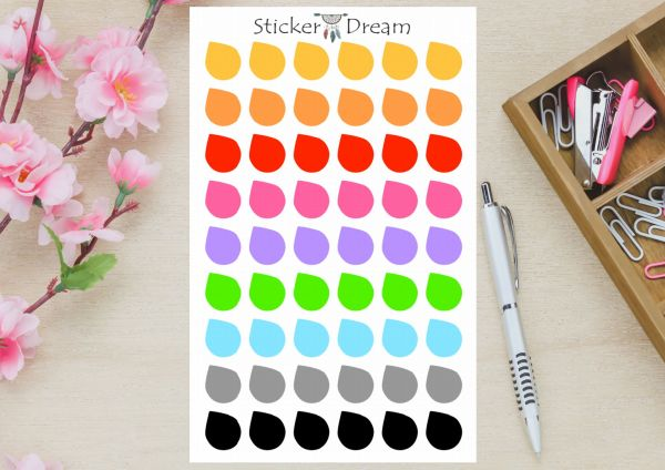 Sticker Dream - Cartela Gotinhas Rainbow