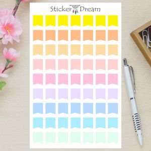 Sticker Dream - Cartela Flags Pastel