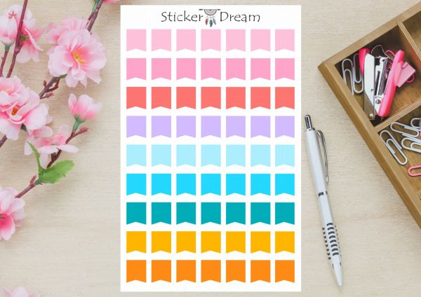 Sticker Dream - Cartela Flags Color