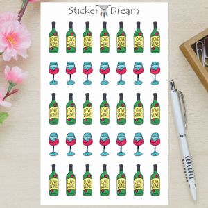 Sticker Dream - Cartela Love Wine
