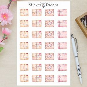 Sticker Dream - Cartela Cartas Vintage