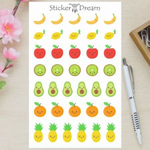 Sticker Dream - Cartela Frutas