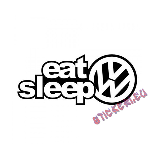 Стикер Eat Sleep VW
