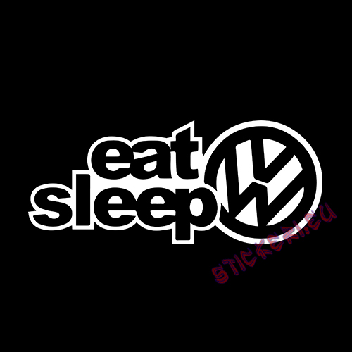 Стикер Eat Sleep VW 2