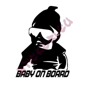 Стикер baby on board - 1 - Stickeri.eu