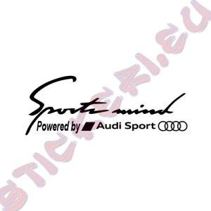 Стикер за кола Sports Mind Audi Sport