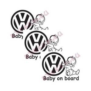 Стикери VW бебе в колата