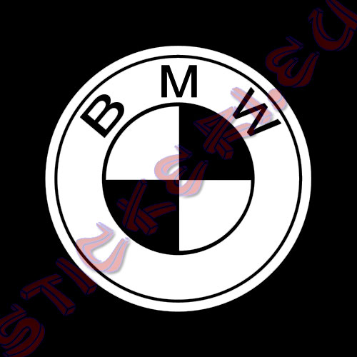 Стикер за кола емблема BMW Black