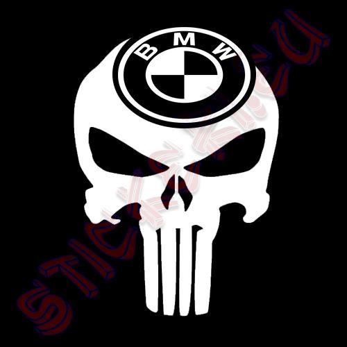 Стикер Punisher BMW 2