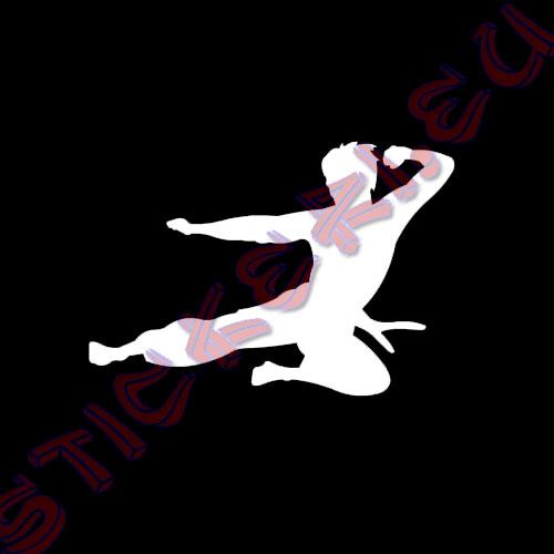 Стикер flying Bruce Lee black