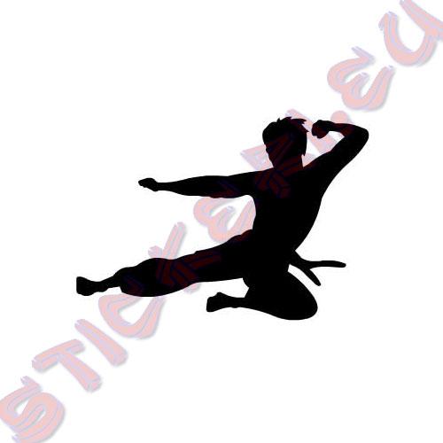 Стикер flying Bruce Lee