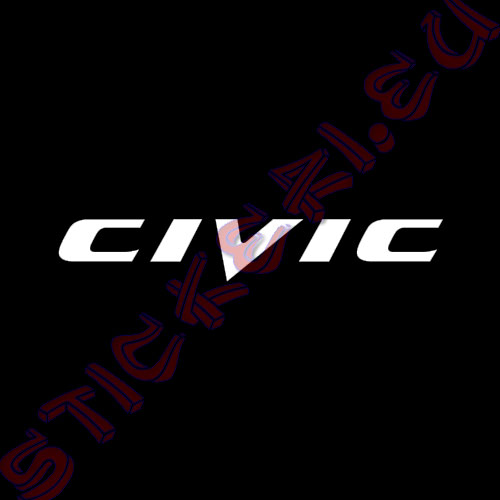 Стикер за кола Civic Black