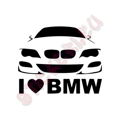 Стикер I Love BMW