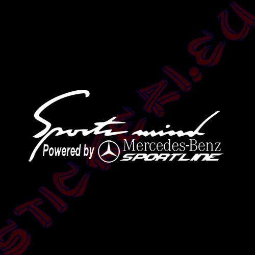 Стикер за кола Sports Mind Mercedes Benz Black