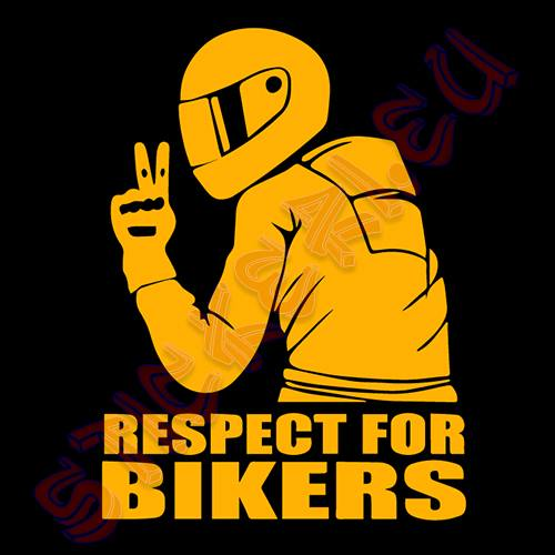 Стикер Respect For Bikers 3