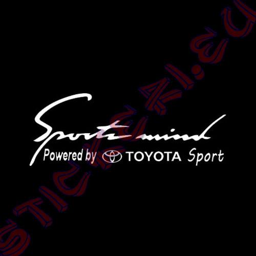 Стикер за кола Sports Mind Toyota Sport black