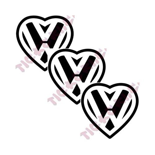 Стикери VW сърце