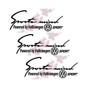 Стикери Sport mind VW 3 броя