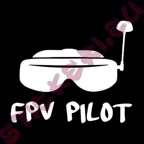 Стикер FPV Pilot бял