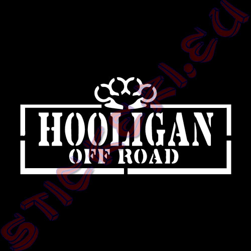 Стикер Off Road Hooligan бял