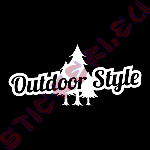 Стикер за автомобили Outdoor Style бял