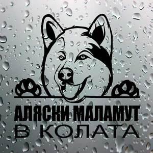 Стикер Аляски маламут