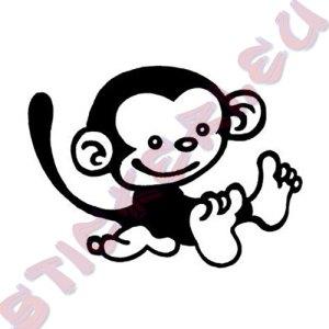 Стикер за декорация маймуна