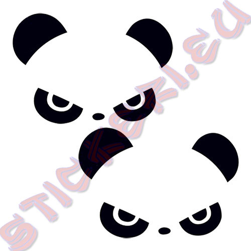 Стикери панда за огледалата 2