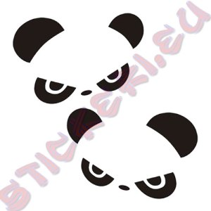 Стикери панда за огледалата