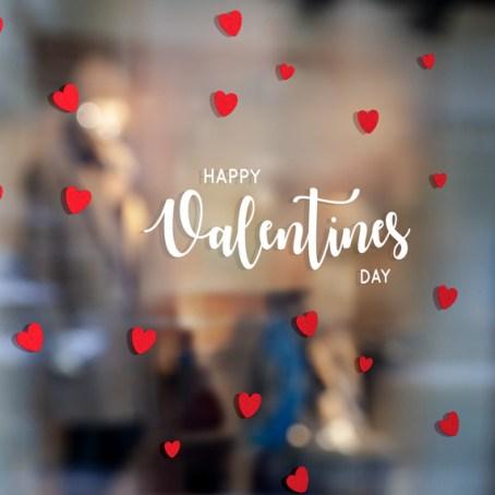 Etalage sticker Valentijn