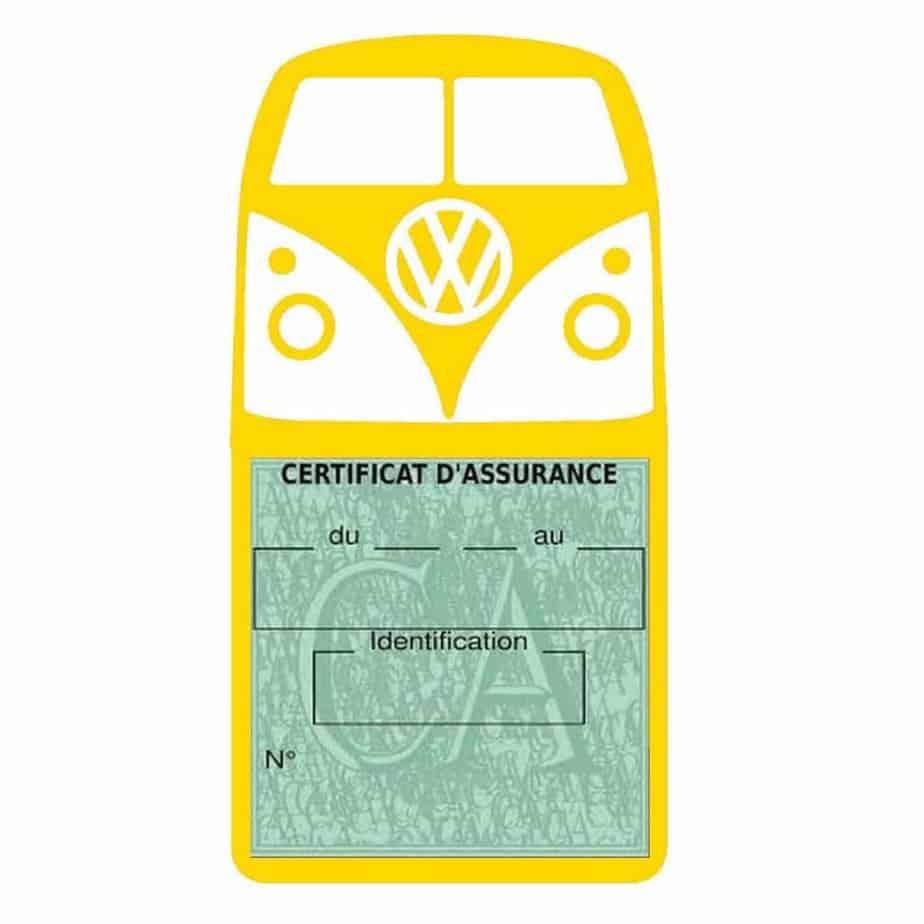 Vignette assurance Volkswagen Kombi T1 Split jaune