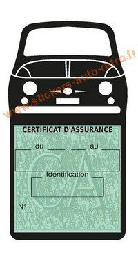 etui assurance fiat porte vignette voiture stickers auto r tro. Black Bedroom Furniture Sets. Home Design Ideas