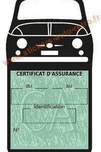 Porte étui vignette assurance Fiat 500